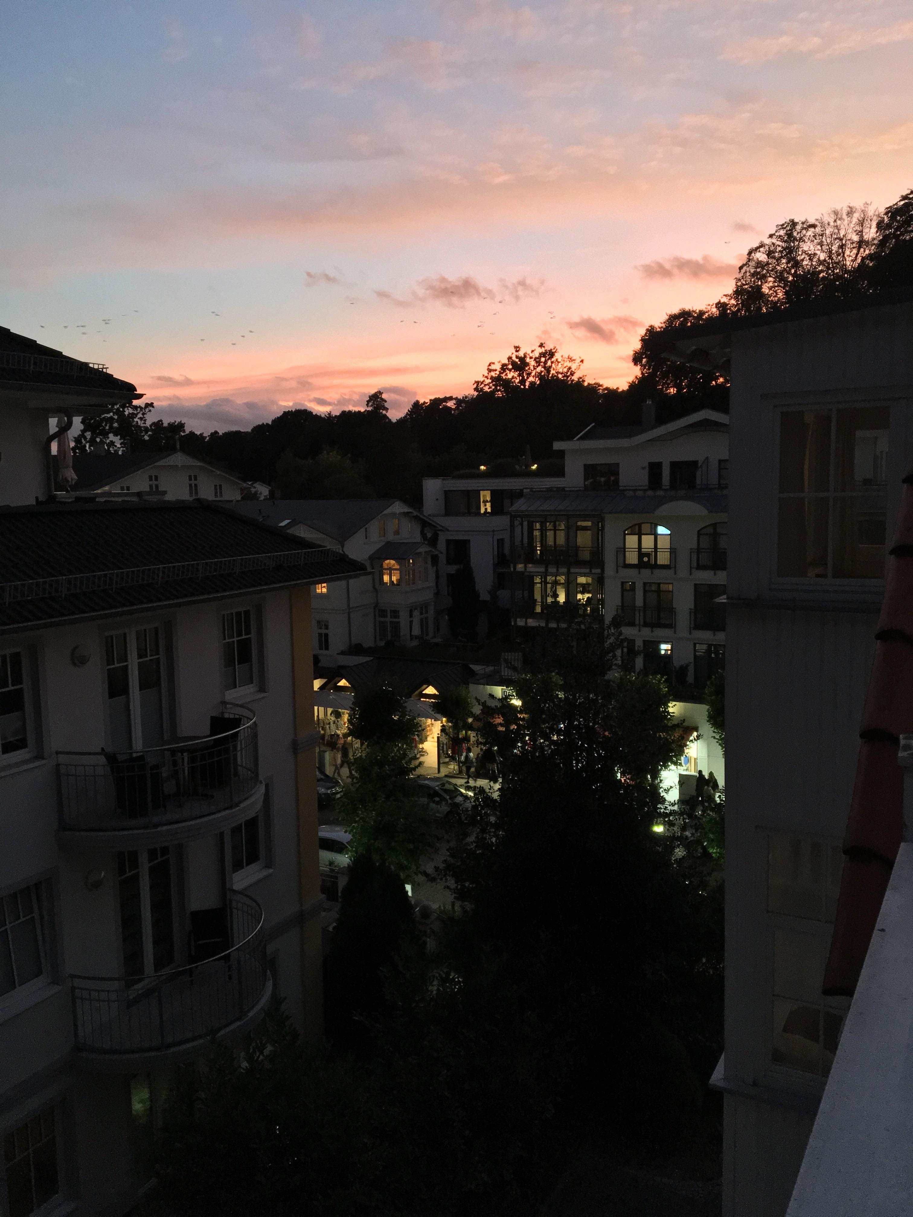 Sonnenuntergang in Sellin