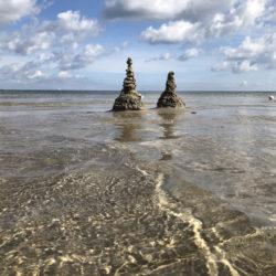 Sandtürme im Meer